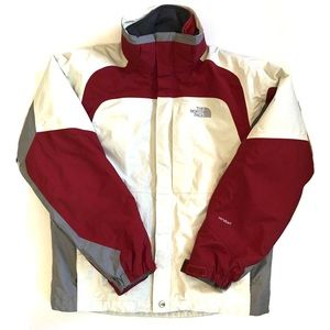 Men's The North Face 3-1 red white winter jacket S